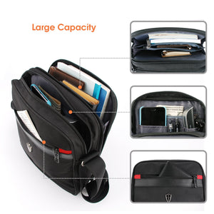 "Victoriatourist V7002 Vertical Shoulder Messenger Bag for iPad/Tablet Upto 10.1"" Black"