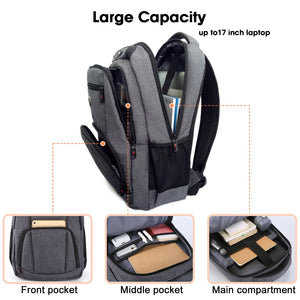Victoriatourist Grey-V9008 Laptop Backpack with Computer Compartment Up to 15.6 inches