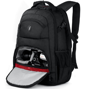 "V6022 DSLR Camera Laptops Backpack Fits 15.6"" (Black) With Waterproof Rain Cover"