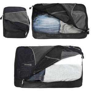 1003 Wandf Compression Travel Luggage Packing Cubes Mesh Extensible Storage Organizers (3 packs)