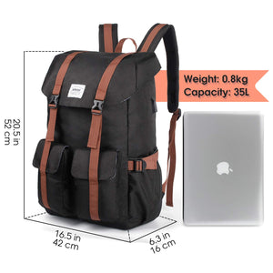 WANDF WF6101 Back to School Backpack, Bags for Computer/Tablet Sleeve and College