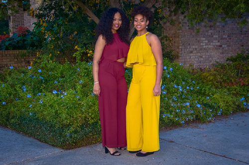 Best in Class Pants Suit (Available in Burgundy or Mustard)