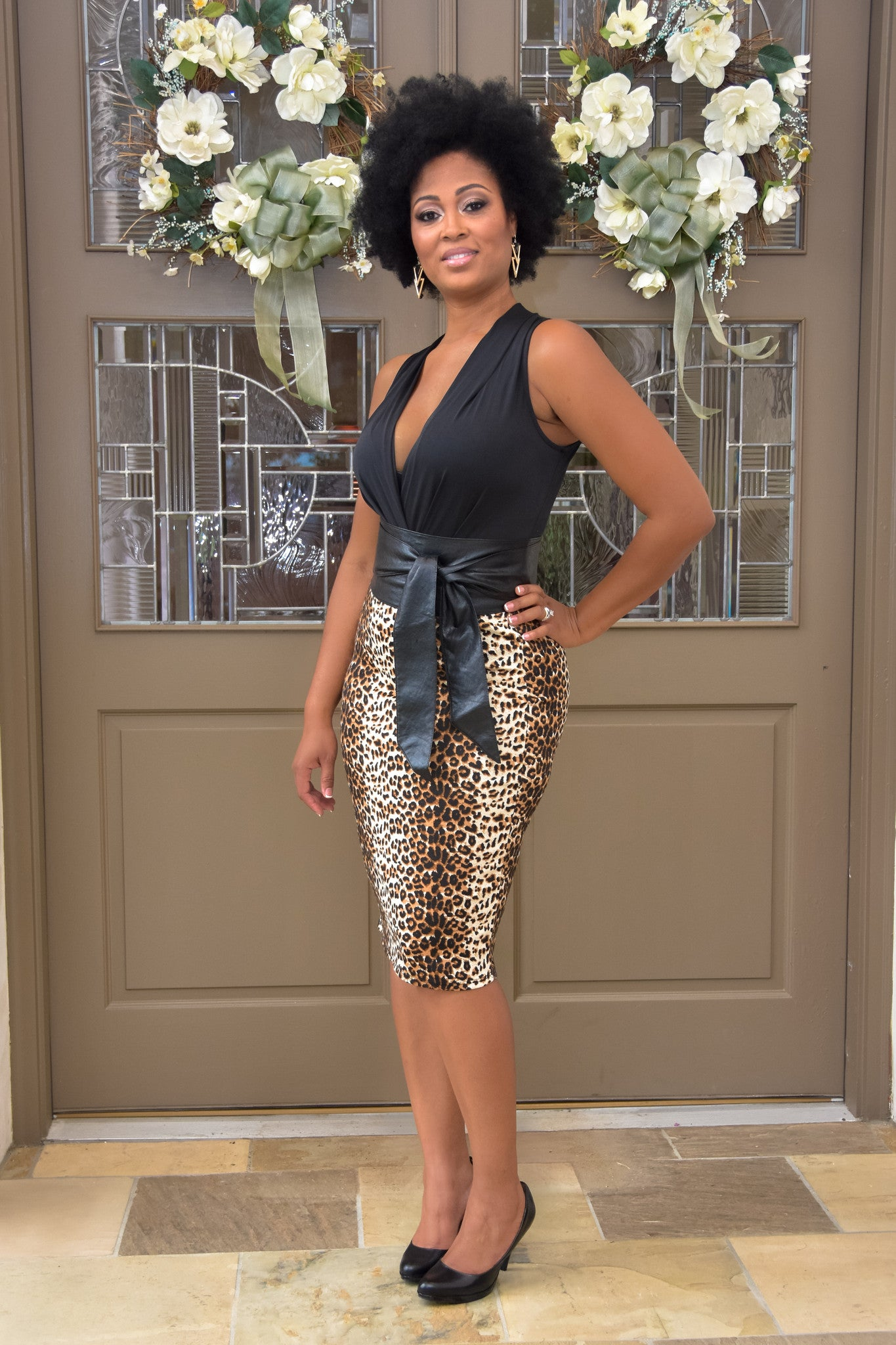 Jasmine  (Top and belt SOLD SEPARATELY) Top: Margeaux   Belt: Obi - Chimes Boutique  - 1