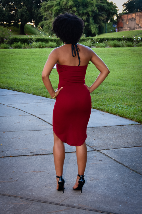 Diamond Dress (Available in Burgundy or Black)