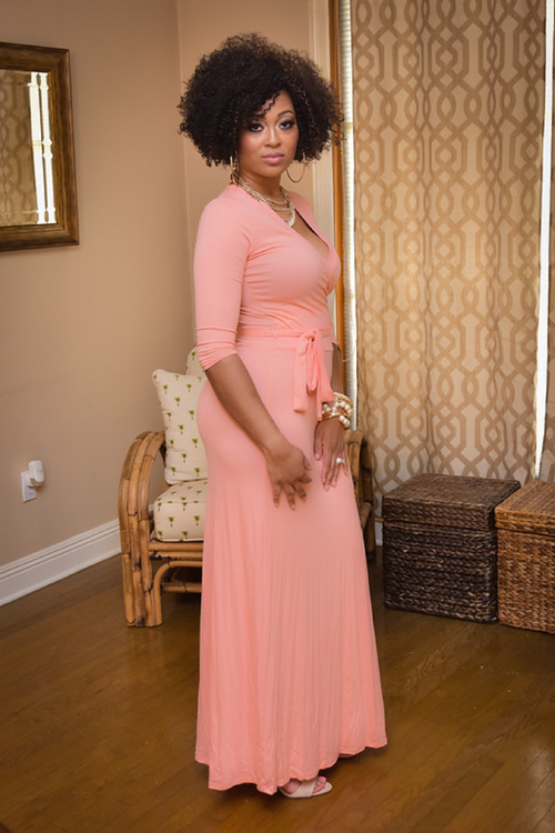 Omarosa in Peach - Chimes Boutique  - 2