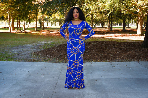 Forever My Lady Maxi Dress in Blue