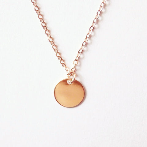 Circle Pendant Necklace Of Disc Pendant 16k Gold Plated Adruzy
