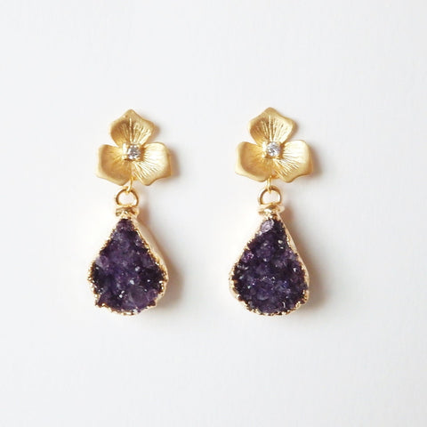 druzy earrings by Adruzy