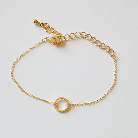 Gold Bracelets Women with Circle made of 16k Gold Plated – Adruzy