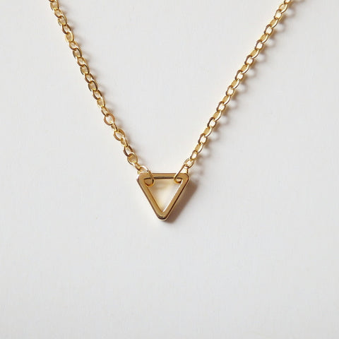 gold triangle necklace by Adruzy