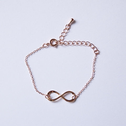 Infinity Bracelet, Made of Quality Rose Gold Plated