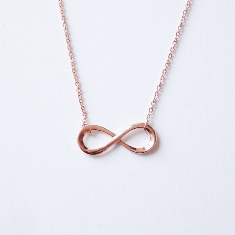 Infinity Necklace In Rose Gold Plated Womens Everyday Jewelry Adruzy