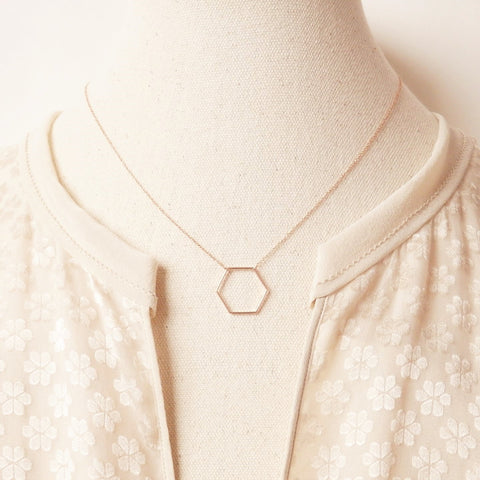 rose gold necklace by Adruzy