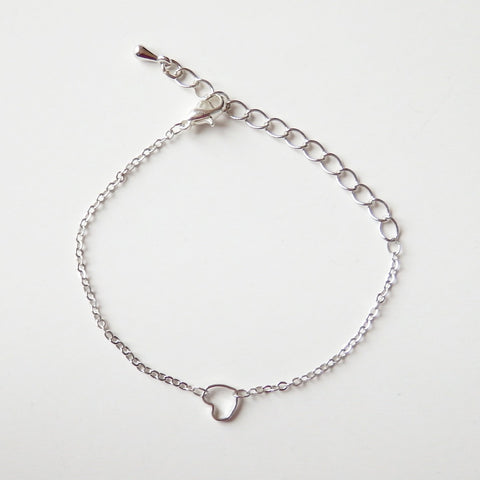 Silver Bracelets Women with Heart Charm 3c560bf126
