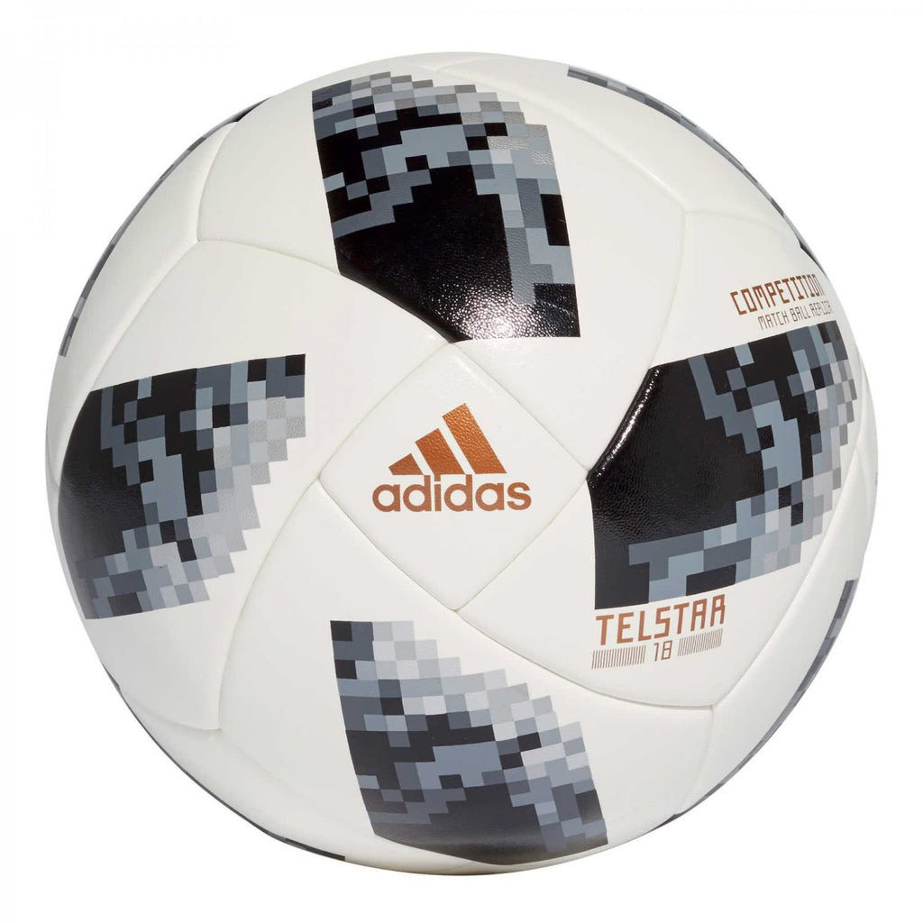 Adidas World Cup COMP Synthetic Football, Men's Size 5 (White/Black/Metallic Silver) CE8085