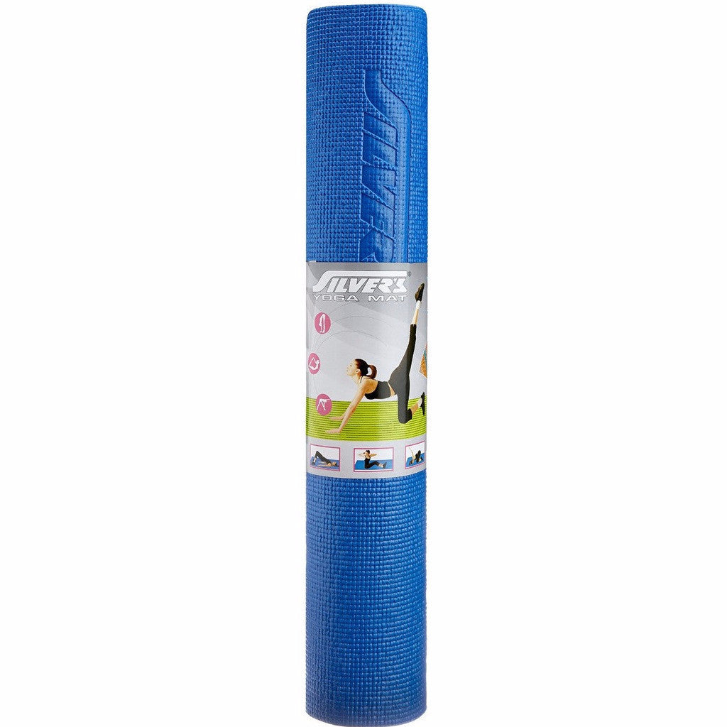 Silver's Yoga Mat with Cover, 6mm (Blue) - Ayudh Sports LLP