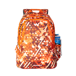 Wildcraft 4 Geo Camo Orange School Bag