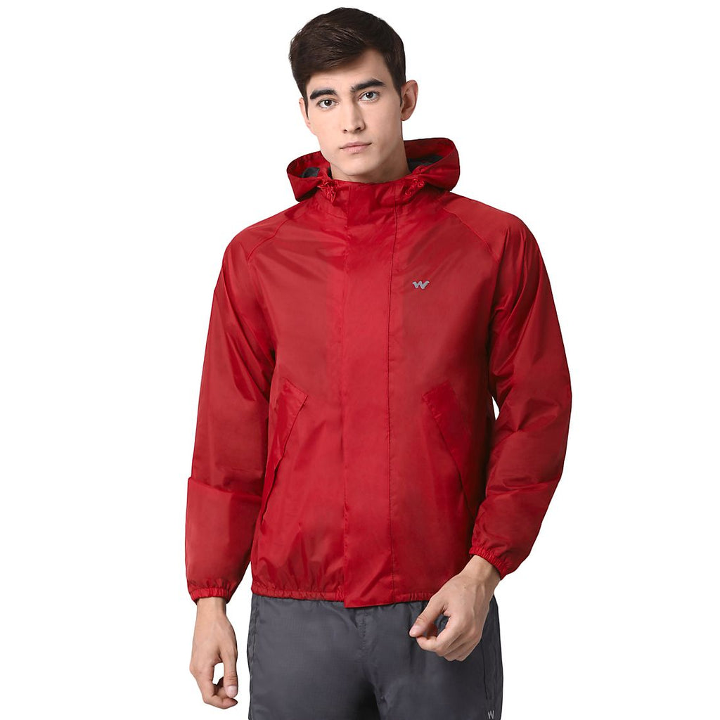 Wildcraft Rain Jacket_B Plus Red