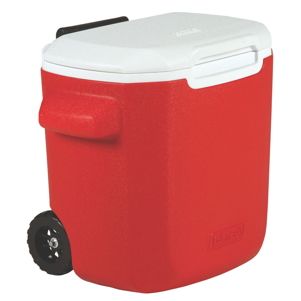 Coleman 16Qt/15.14 Litres Wheeled Cooler (Red)