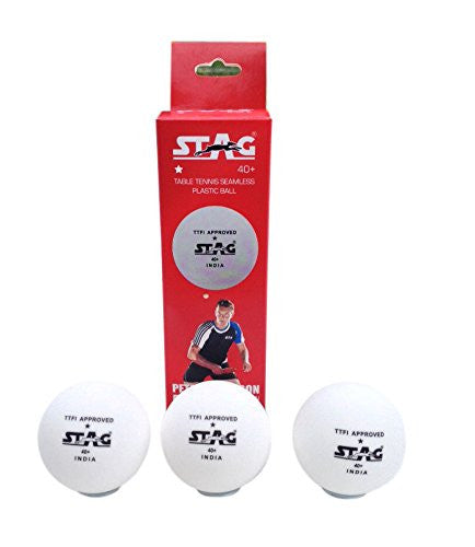 Stag TTBA-520 One Star Plastic Ball White (Pack of Three) - Ayudh Sports LLP  - 1