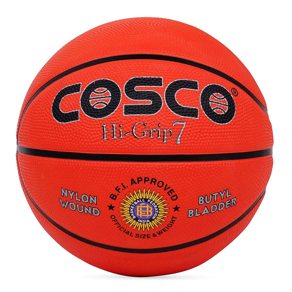 Cosco Hi-Grip Basket Balls, Size 7 (Orange)