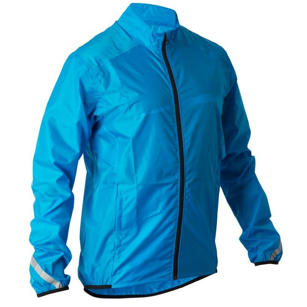 Btwin Cycling Rain Jacket 300 Blue Large