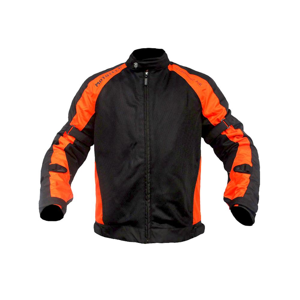MOTOTECH Scrambler AIR Motorcycle Jacket - Combo Colors - Black + Orange