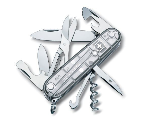 Victorinox Climber SilverTech Transparent Swiss Army Knife (1.3703.T7) - Ayudh Sports LLP  - 1