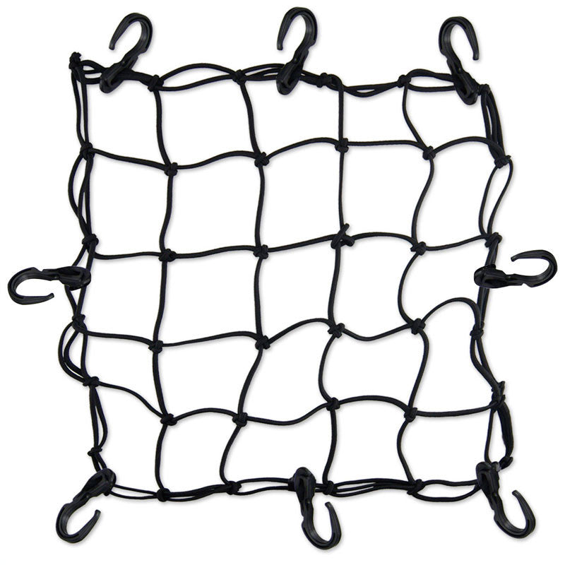 "Mototech Flexi Hook Bungee Net - 15""x12"" - Ayudh Sports LLP  - 1"