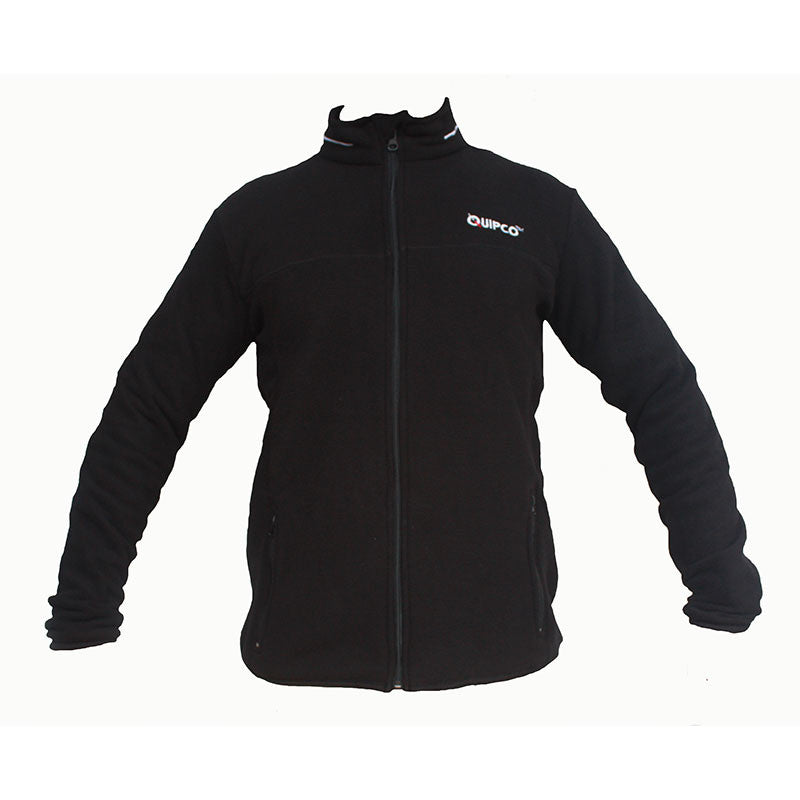 Quipco Tundra Fleece Pullover Jacket - Black (Size Options Available) - Ayudh Sports LLP  - 1