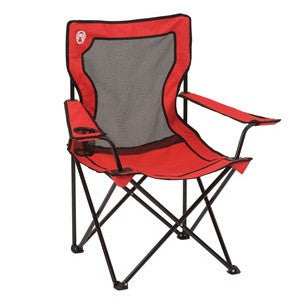 Coleman BROADBAND™ Mesh Quad Chair - Red - Ayudh Sports LLP