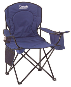 Coleman Quad Chair with Cooler Blue
