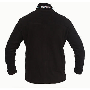 Quipco Tundra Fleece Pullover Jacket - Black (Size Options Available) - Ayudh Sports LLP  - 2