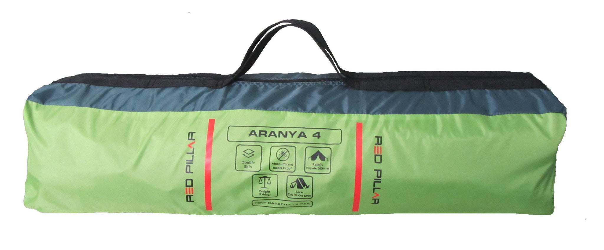 Red Pillar Tent Aranya 4 Green (Dome) - Ayudh Sports LLP  - 2