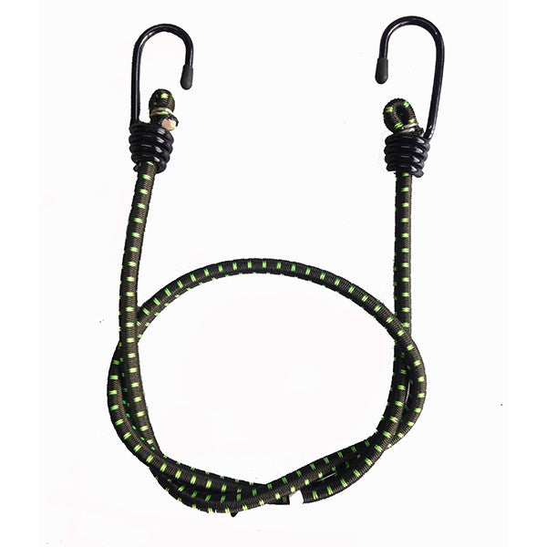 "MOTOTECH Root Bungee Tie Down - 8mm - Olive Green + Flourescent Green - 36""-90cms (Pack Of Two) - Ayudh Sports LLP"