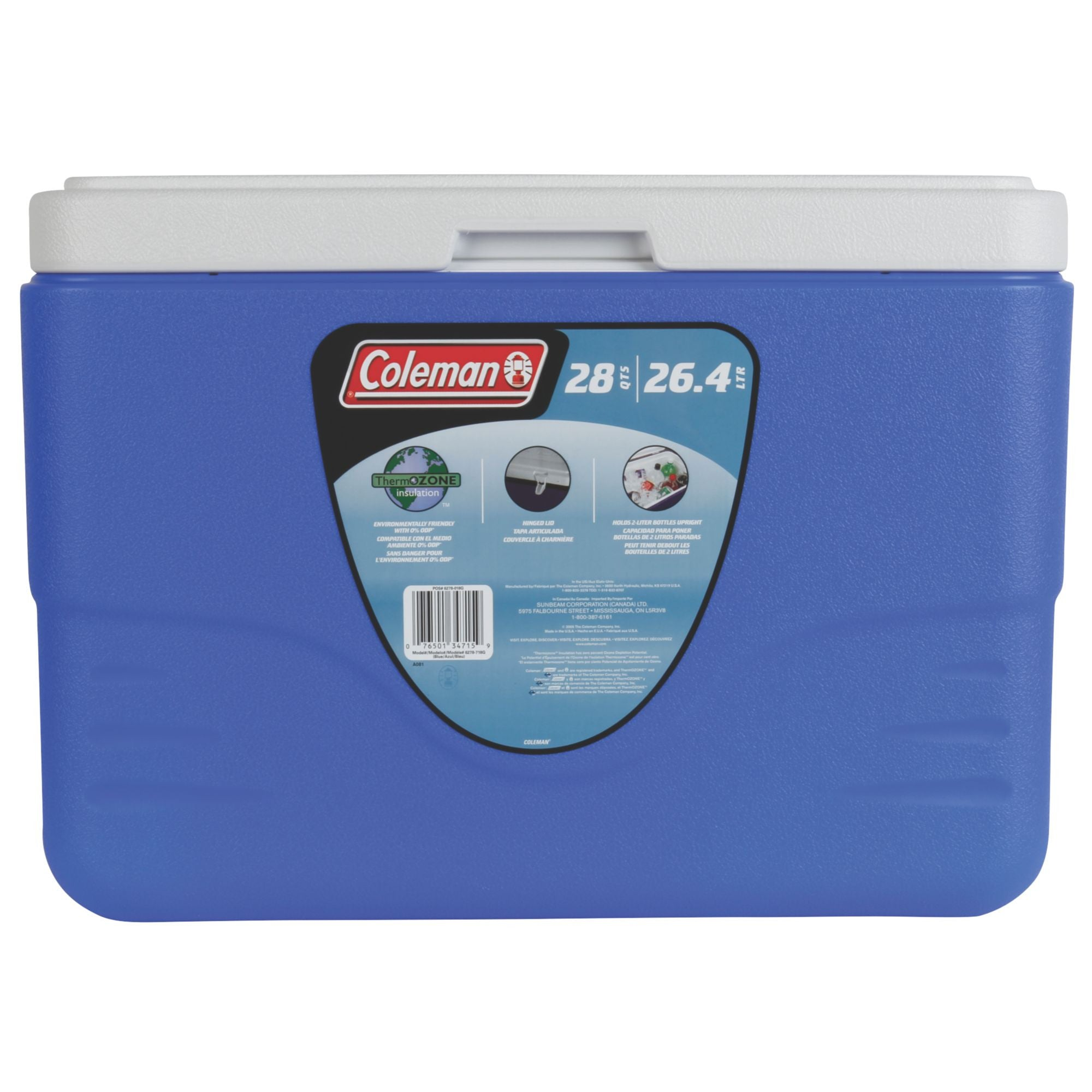 Coleman 28Qt/26 Litres Cooler with Bail Handle (Blue) - Ayudh Sports LLP  - 2