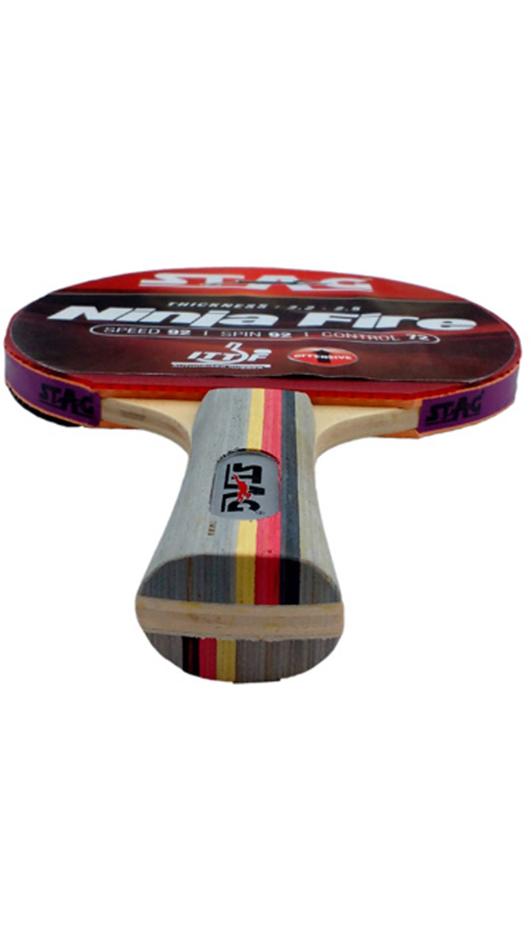 Stag Ninja Fire Table Tennis Racquet - Ayudh Sports LLP  - 2