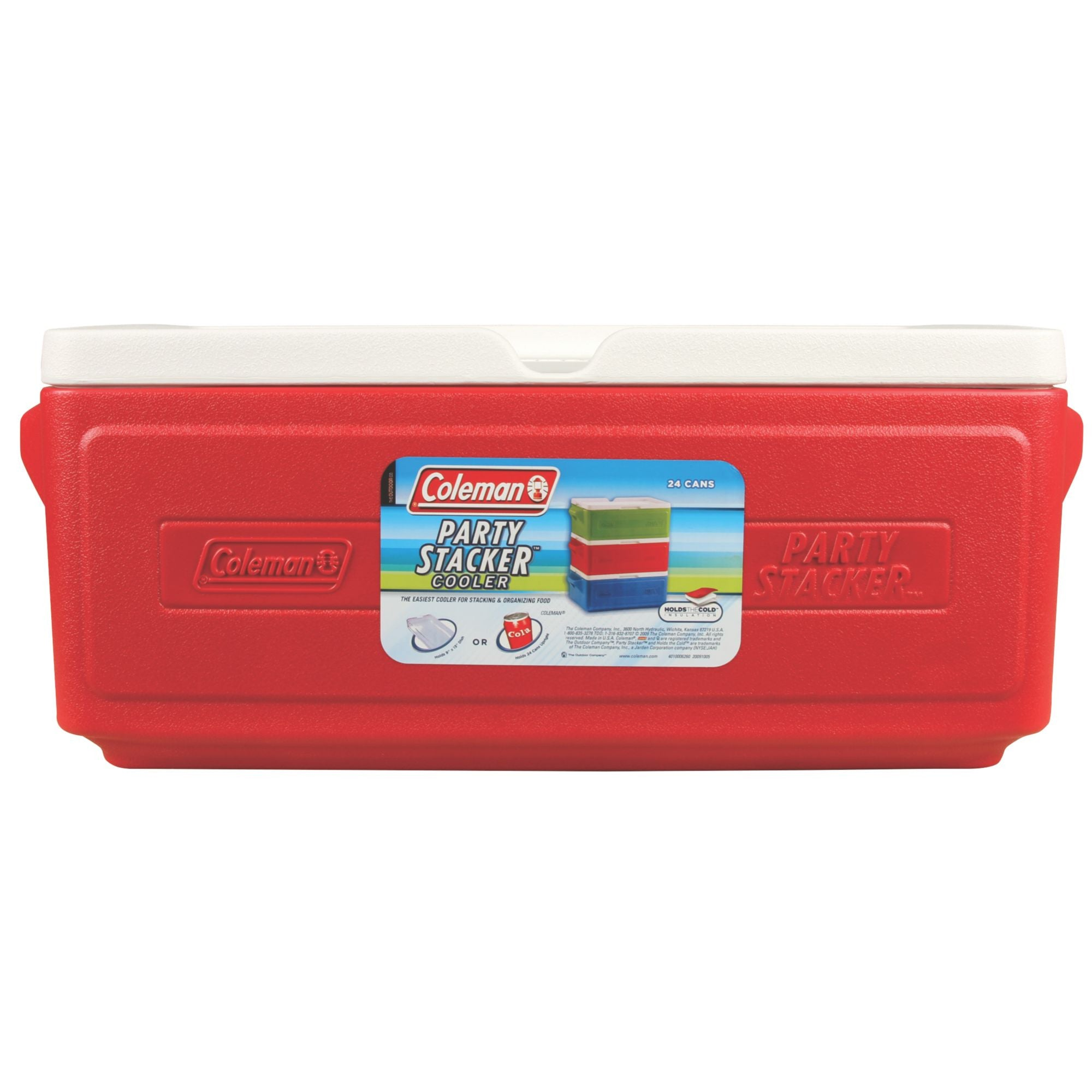 Coleman 24 Can Stacker Cooler Red - Ayudh Sports LLP  - 2