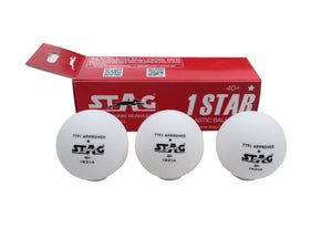 Stag TTBA-520 One Star Plastic Ball White (Pack of Three) - Ayudh Sports LLP  - 2