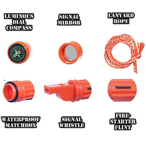Coleman 5-in-1 Survival Whistle (Orange) - Ayudh Sports LLP  - 3