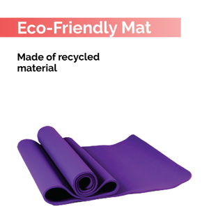 Fitspree Economy Yoga Mat 4mm Neon Purple Brand Of Supreme- Made In India