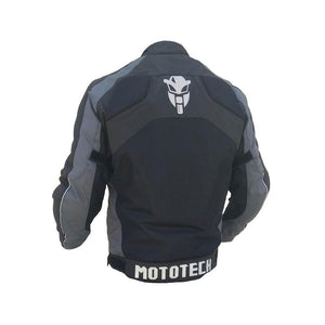 MOTOTECH Scrambler AIR Motorcycle Jacket - Combo Colors -  Black + Grey