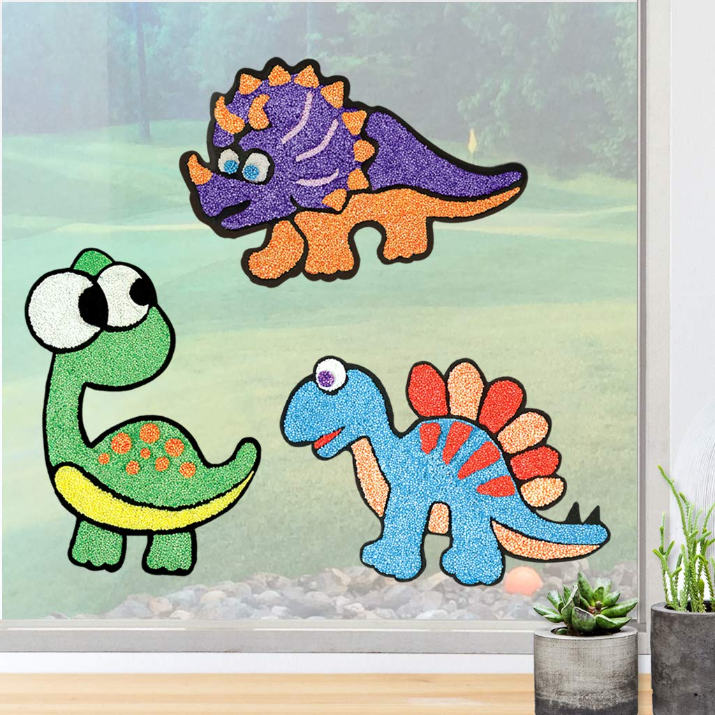 Window Art Dino Pals
