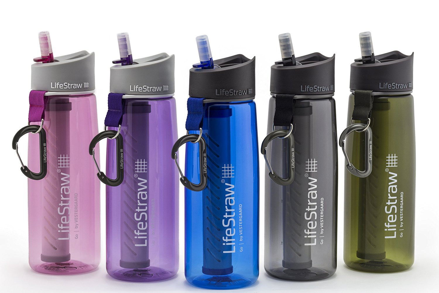 Lifestraw Water Bottle With 2 Stage Filtration Grey