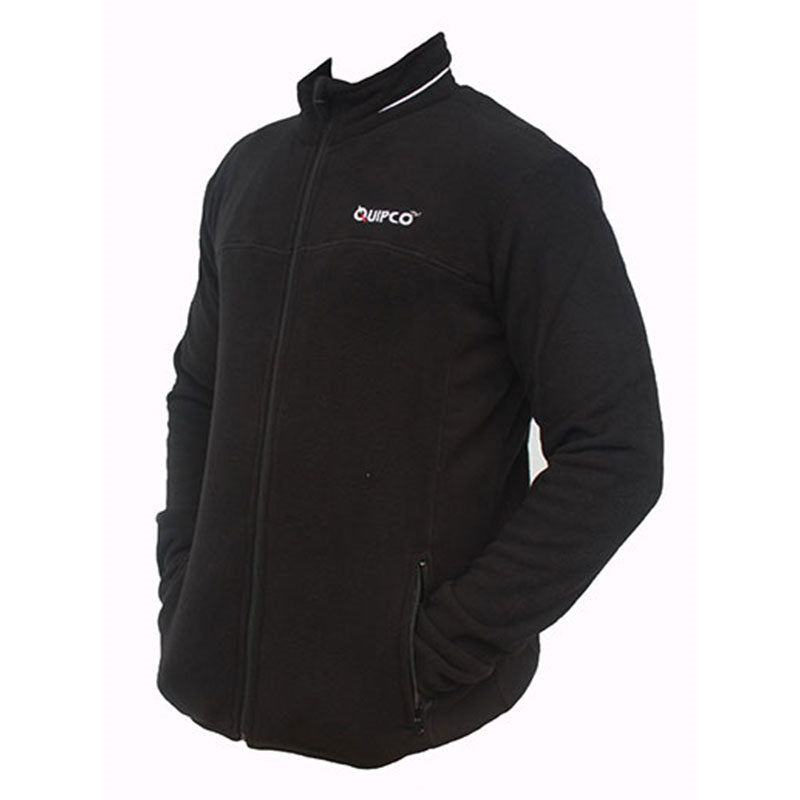Quipco Tundra Fleece Pullover Jacket - Black (Size Options Available) - Ayudh Sports LLP  - 7