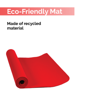 Fitspree Economy Yoga Mat 4mm Red Brand Of Supreme- Made In India
