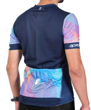 Apace 2018 Breakaway Race Fit Cycling Jersey - Mens- Bubble