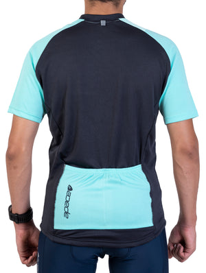 Apace 2018 Peloton Club Fit Cycling Jersey - Mens - Aqua