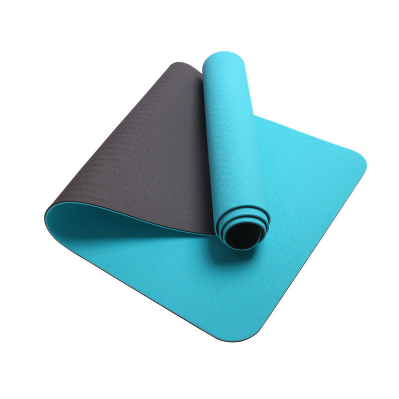 Kxana TPE Yoga mat in Double Layer 8mm Color Aqua Blue/Grey
