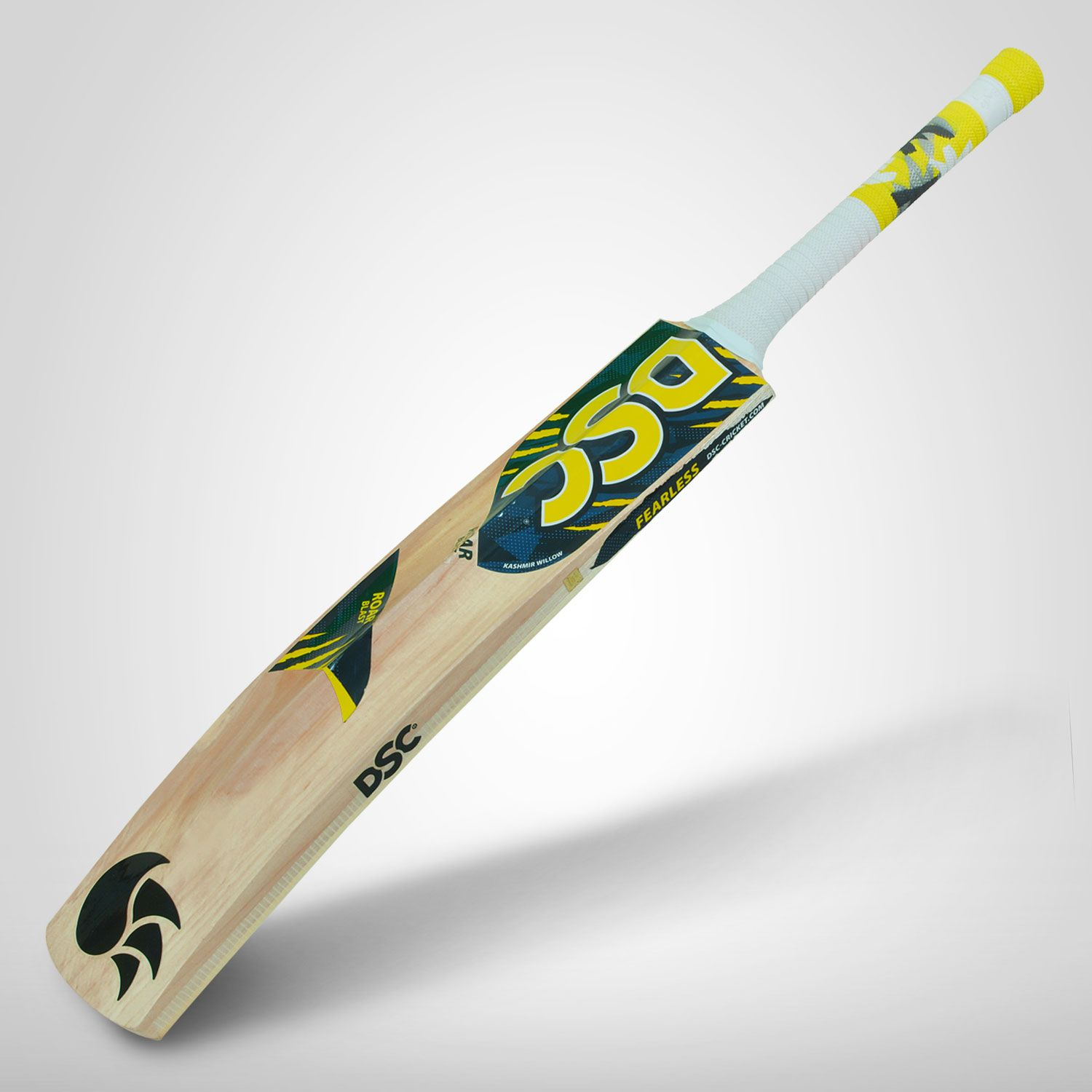 DSC Roar Blast Kashmir Willow Cricket Bat ( Size: -Harrow , Ball_ type : Leather Ball, Playing Style : All-Round )